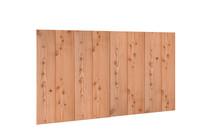 Douglasvision   Wand B 228,5 x 194 cm   Halfhouts Rabat Dubbelzijdig   Achterwand   Onbehandeld