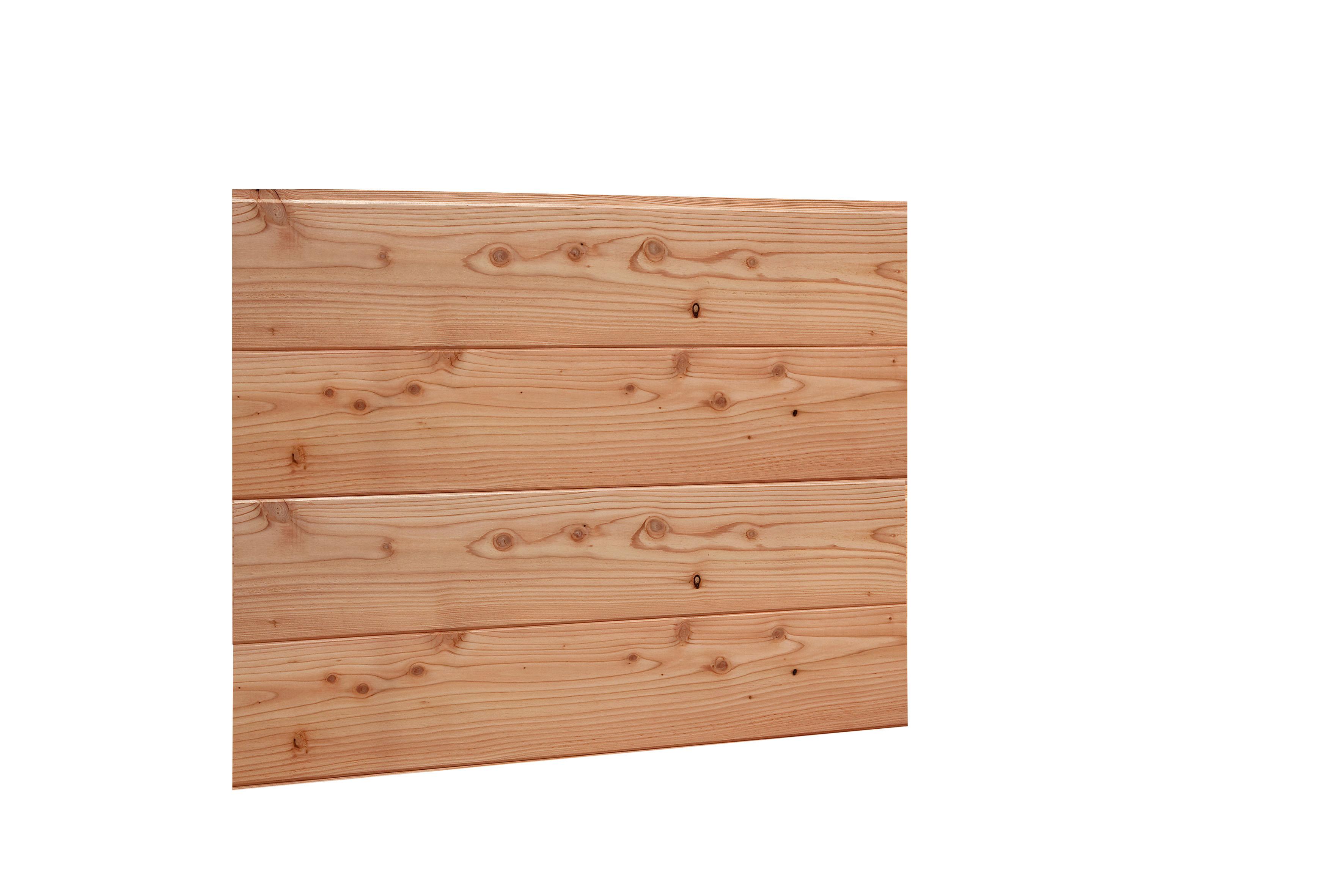 Douglasvision | Blokhutprofiel | Wand F 228,5 x 294 cm | Enkele Deur | Bruin gespoten