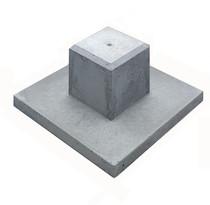Westwood | Betonpoer met tegel Deluxe | 12x12cm voor paal 10-12 cm