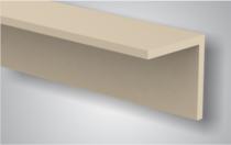 CarpGarant | Hoekprofiel composiet creme 4 x 4 x 300 cm