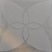 Excluton | Optimum Decora 60x60x4 cm iris | Silver