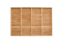 Douglasvision | Wand B 228.5 x 194 cm | Zweeds Rabat enkelzijdig | Achterwand Gesloten | Onbehandeld