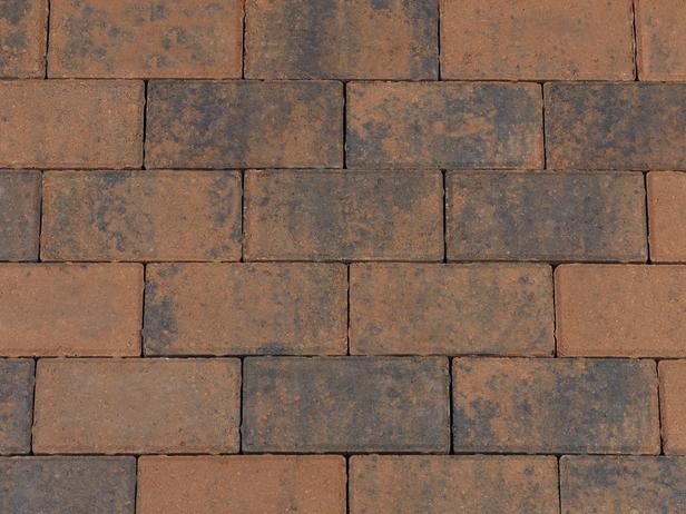 Kijlstra | Betonstraatsteen 21x10.5x6 | Bruin/zwart