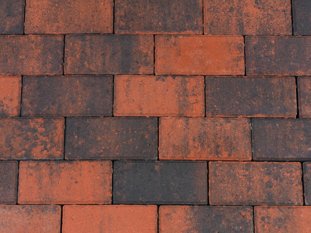 Kijlstra | Halve betonstraatsteen 10.5x10.5x8 | Rood/zwart