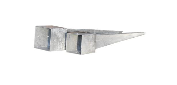 Paalhouder met punt | Verzinkt | 91 mm