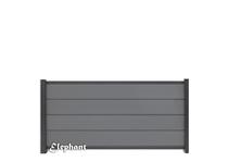 Elephant | Modular scherm Rock Grey/Antraciet | 180 x 97 cm