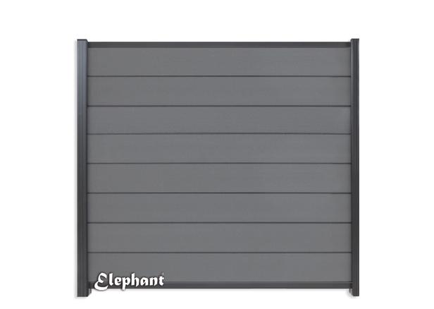 Elephant   Tuinscherm Modular   180x180 cm   Rock Grey/Antraciet