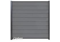 Elephant | Modular scherm Rock Grey/Antraciet | 180 x 200 cm