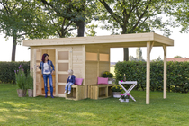 Outdoor Life Products | Blokhut Vera met overkapping