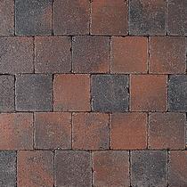 Excluton | Abbeystones 10x10x6 | Rood/zwart