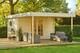 Outdoor Life Products   Blokhut Xena met luifel   Voor 300