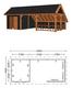 Trendhout | Kapschuur De Hoeve XL 9.26m | Combinatie 4