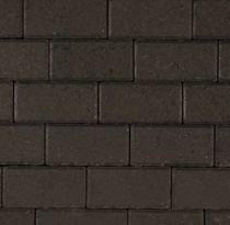 Excluton | Betonstraatsteen 21x10.5x6 | Zwart