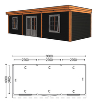 Trendhout | Buitenverblijf Refter XL 9000 mm | Combinatie 6