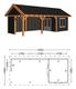 Trendhout | Zadeldakschuur XL 9260 mm | Combinatie 5