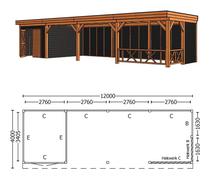 Trendhout | Buitenverblijf Refter XL 12000 mm | Combinatie 3
