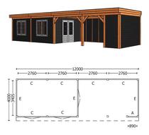 Trendhout | Buitenverblijf Refter XL 12000 mm | Combinatie 5