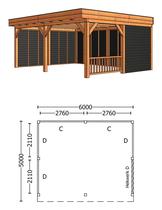 Trendhout | Buitenverblijf Regina XL 6000 mm | Combinatie 3