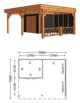 Trendhout | Buitenverblijf Regina XL 6000 mm | Combinatie 4