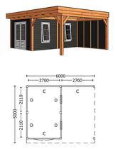 Trendhout | Buitenverblijf Regina XL 6000 mm | Combinatie 5