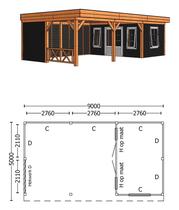Trendhout | Buitenverblijf Regina XL 9000 mm | Combinatie 4