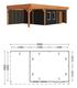 Trendhout   Buitenverblijf Regina XL 9000 mm   Combinatie 6
