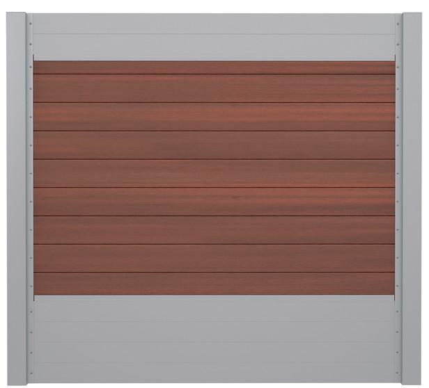 IdeAL | Scherm Zilver- Symmetry Cinnabar | 180x180 | 9 planks