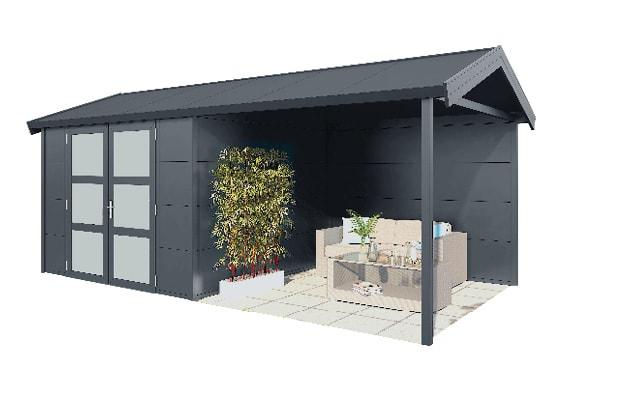 Gardendreams | Outdoor cabins met Zadeldak | Hermes | 572 x 300 cm