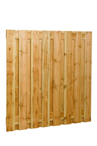Fijnbezaagdscherm grenen | 17-planks | 180 x 180 cm