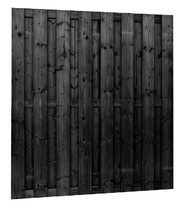 Jumboscherm 15-planks | 180 x 180 cm ZWART