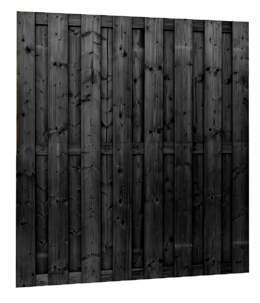 Jumboscherm 15-planks | 180 x 180 cm ZWART gespoten