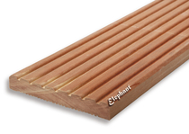 Red Balau Vlonderplank 25x145mm groef/ribbel | 245 cm