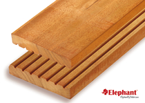 Bilinga Vlonderplank 25x145mm semi-ribbel/glad | 215 cm