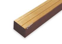 Hardhouten bangkirai regel | 45x68mm | v-groef | 490 cm