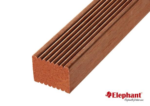 Hardhouten Keruing regel | 45x68mm | 430 cm