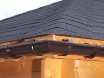 S-Lon | PVC Dakgoot Vierhoekig dak GD16 | Bruin | 14 m