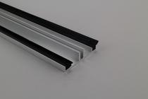 Onderprofiel 7,5 mm met beglazingsrubbers, drager tot 1,1 m