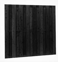 Schuttingscherm Douglas | 15-planks | 180 x 180 cm | Zwart