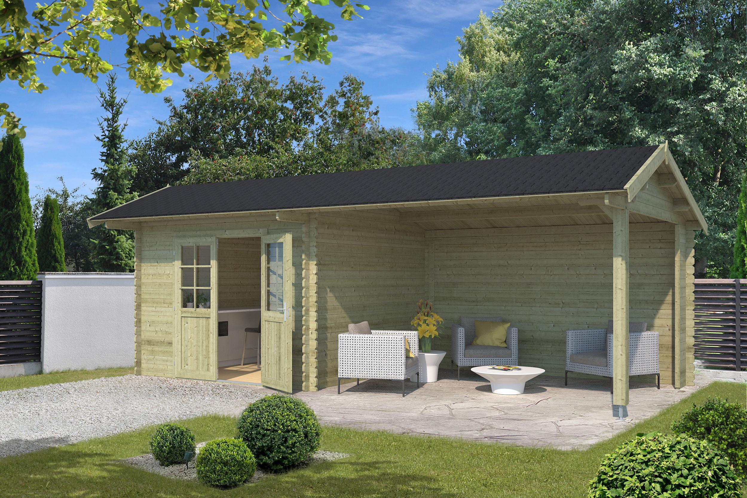 Blokhut | Maribel | 300 x 680 | Outdoor Life | Groen
