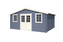 Nubuiten | Blokhut Udo 300 | Pigeon Blue | 500x320 cm