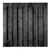 Carpgarant | Scherm Douglas fijnbezaagd | 19-planks | 180 x 180 cm_zwart gecoat