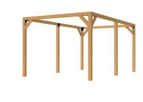 OP = OP Douglas pergola houtpakket | 500 x 300 cm