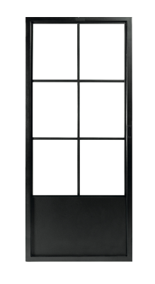 Stalen schuifdeur | 6-ruits | Zwart gecoat