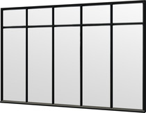 Trendhout | Steel Look raam module E-02 | 340.5x220 cm