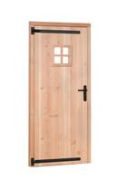 OP = OP | Woodvision | Douglas enkele deur met raam | Rechtsdraaiend | Groen geimpregneerd