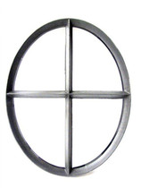 Ossenoog | Vast | 51 x 64 cm | Zwart | Dubbel glas