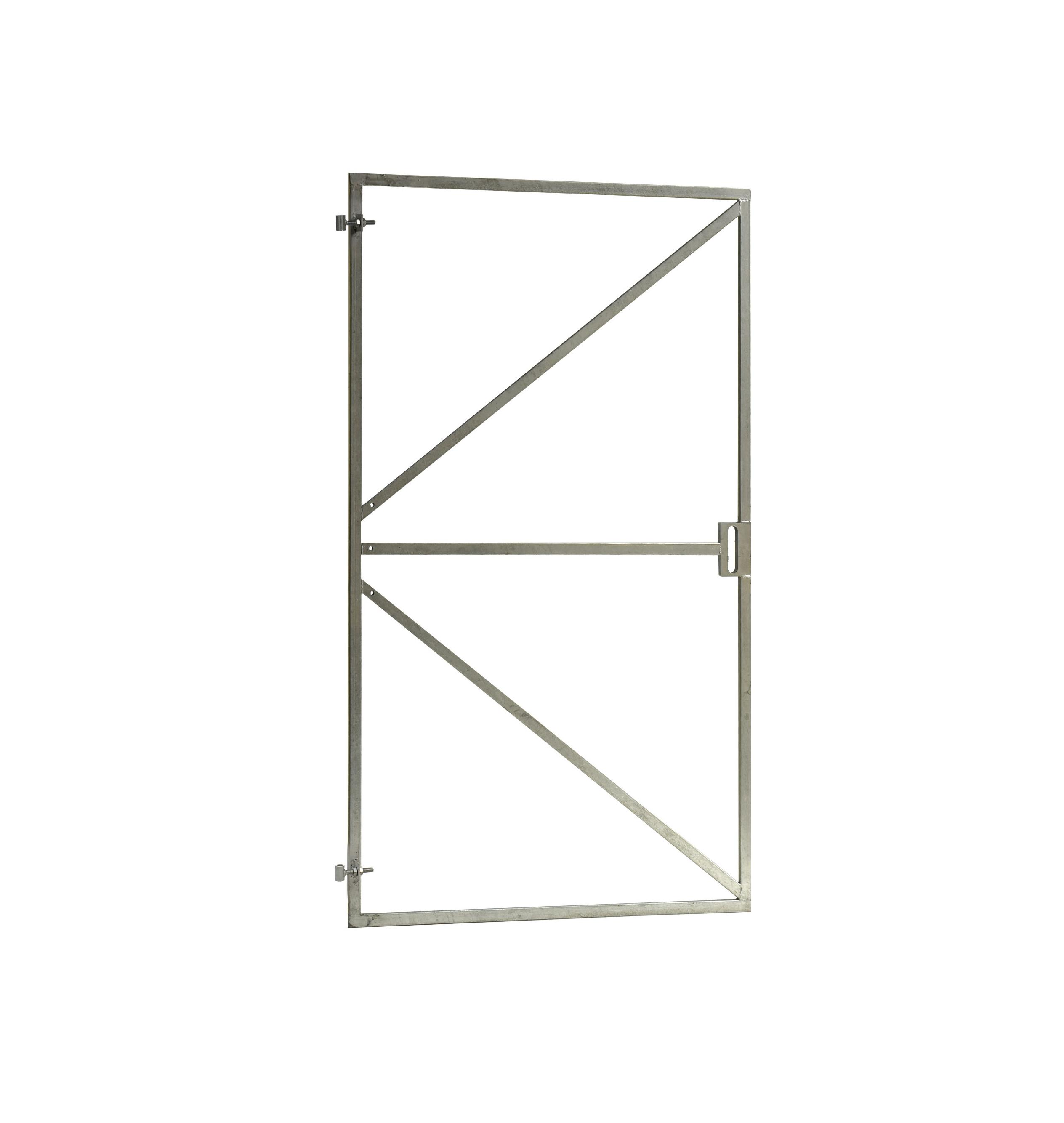 Verstelbaar poortframe met lage slotkast | 90 x 155 cm | Vuurverzinkt