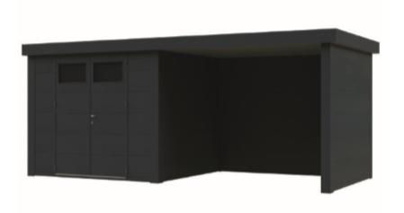 Telluria | Eleganto 2424 SD met luifel | 522x238 cm | Antraciet