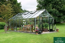 Royal Well | Hobbykas Gardener 161 Grijs antraciet (veiligheidsglas)