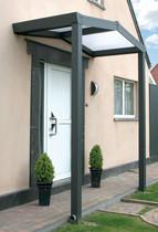 Gardendreams | Voordeur luifel met polycarbonaat dakbedekking | 150 cm